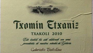 622. Txomin Etxaniz, Getariko Txakolina Txakoli, 2010