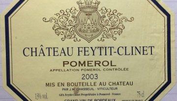 625. Château Feytit-Clinet, Pomerol, 2003