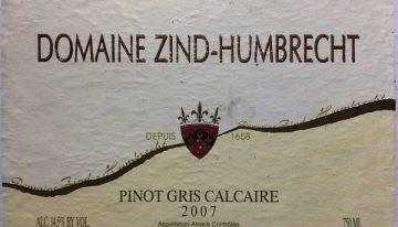 627. Domaine Zind-Humbrecht, Pinot Gris Calcaire Alsace, 2007