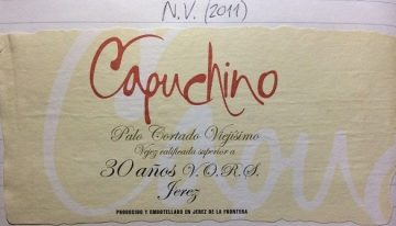 631. Pedro Domecq, Capuchino Viejisimo Palo Cortado Sherry VORS, NV (2011)