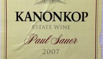 633. Kanonkop, Paul Sauer, 2007
