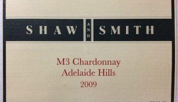 638. Shaw+Smith, M3 Chardonnay Adelaide Hills, 2009
