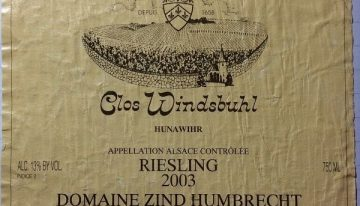 643. Domaine Zind-Humbrecht, Riesling Clos Windsbuhl, 2003