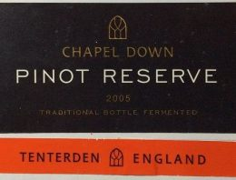 644. Tenterden Vineyards, Chapel Down Pinot Reserve, 2005