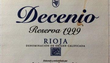 648. Bodegas Las Orcas, Decenio Rioja Reserva, 1999