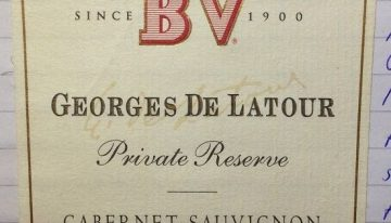 659. Beaulieu Vineyard, Georges de Latour Private Reserve Cabernet Sauvignon Napa Valley, 2000
