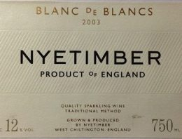 662. Nyetimber, Blanc de Blancs Brut England, 2003