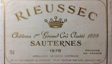 670. Château Rieussec, 1er Grand Cru Classé Sauternes, 1975