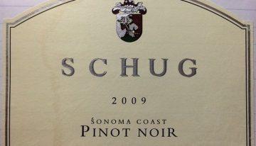 671. Schug, Pinot Noir Sonoma Coast, 2009