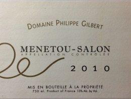 672. Domaine Philippe Gilbert, Menetou-Salon, 2010