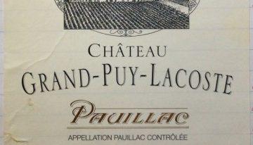 673. Château Grand-Puy-Lacoste, 5ème Cru Classé Pauillac, 2002