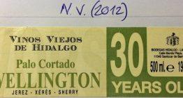 678. Hidalgo-La Gitana, Wellington Palo Cortado Sherry VORS, NV (2012)