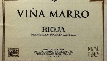 679. Bodegas Domecq de Jarauta, Viña Marro Rioja Reserva, 2005