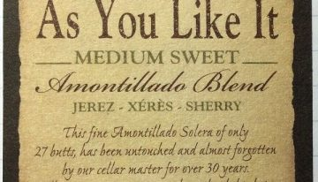 684. Williams & Humbert, As You Like It Medium Sweet Amontillado Sherry VORS, NV (2012)
