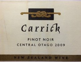 699. Carrick, Pinot Noir Central Otago, 2009