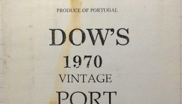 707. Dow's, Vintage Port, 1970