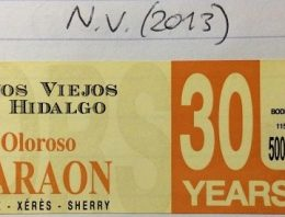718. Hidalgo-La Gitana, Faraon Oloroso Sherry VORS, NV (2013)