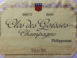 720. Champagne Philipponnat, Clos des Goisses Brut, 2000