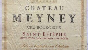 723. Château Meyney, Cru Bourgeois Saint-Estèphe, 1995