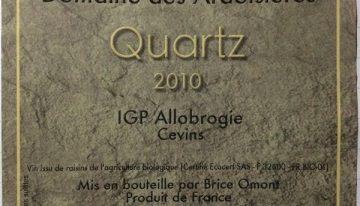 726. Domaine des Ardoisières, Quartz IGP Allobrogie Cevins, 2010