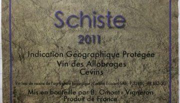 727. Domaine des Ardoisières, Schiste IGP Allobrogie Cevins, 2011