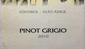 729. Kellerei Nals Margreid, Pinot Grigio Alto Adige, 2010