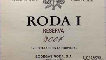 733. Bodegas Roda, Roda I Rioja Reserva, 2004