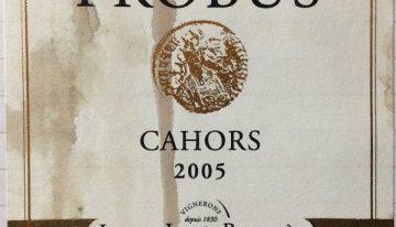 736. Clos Triguedina, Probus Cahors, 2005