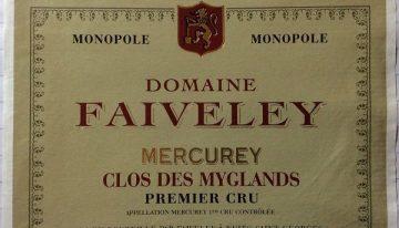 746. Domaine Faiveley, Mercurey 1er Cru Clos des Myglands Monopole, 2008