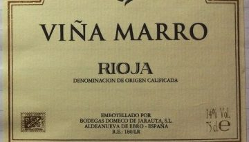 747. Bodegas Domecq de Jarauta, Viña Marro Rioja Reserva, 2007