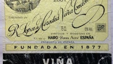 749. Lopez de Heredia-Viña Tondonia, Viña Tondonia Rioja Reserva, 2001