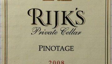 750. Rijk's, Private Cellar Pinotage Tulbaugh, 2008