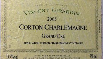 755. Vincent Girardin, Corton Charlemagne Grand Cru, 2005
