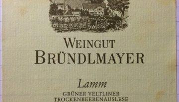 758. Weingut Bründlmayer, Grüner Veltliner Lamm Trockenbeerenauslese Kamptal, 2009