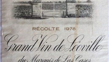 760. Château Léoville-Las Cases, Saint-Julien, 1978