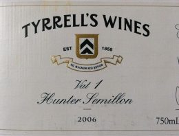 782. Tyrrell's Wines, Hunter Semillon Vat 1, 2006