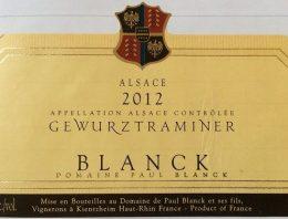 796. Paul Blanck, Gewürztraminer Alsace, 2012
