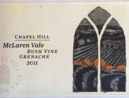 822. Chapel Hill, Bush Vine Grenache McLaren Vale, 2011