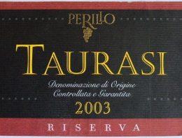 823. Perillo di Romano, Taurasi Riserva, 2003