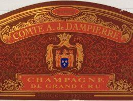 833. Champagne Comte A. de Dampierre, Grand Cru Brut, 2002