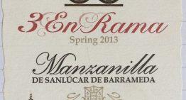 852. Lustau, 3 En Rama Spring 2013 Manzanilla de Sanlúcar de Barrameda Sherry, NV (2014)