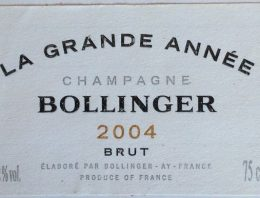 871. Champagne Bollinger, La Grande Année Brut, 2004