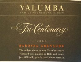 891. Yalumba, The Tricentenary Grenache Barossa Valley, 2008