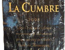 909. Errazuriz, La Cumbre Syrah Aconcagua, 2008