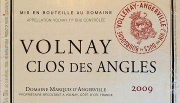 932. Domaine Marquis d'Angerville, Volnay 1er Cru Clos des Angles, 2009
