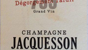 937. Champagne Jacquesson, Cuvée 733 Dégorgement Tardif Extra Brut, NV (2015)