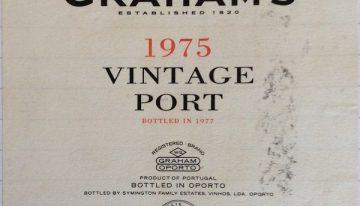 938. W & J Graham & Co, Vintage Port, 1975