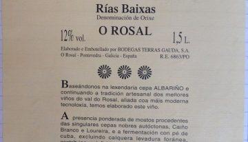 941. Terras Gauda, Etiqueta Blanca O Rosal Rías Baixas, 2014