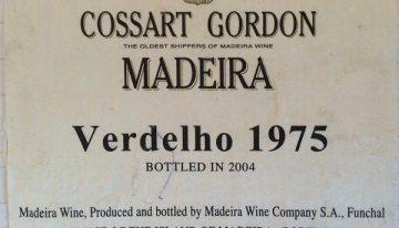 946. Cossart Gordon, Verdelho Madeira, 1975